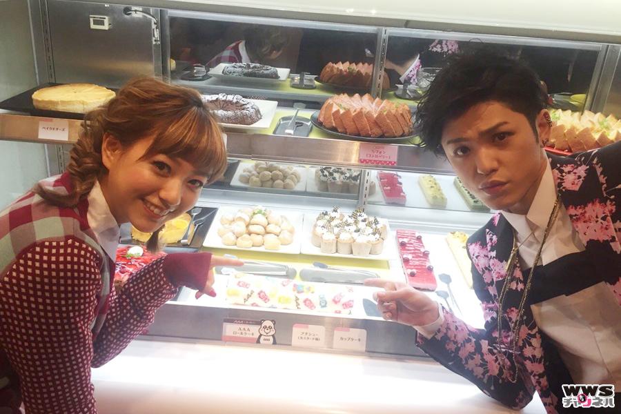 AAAの末吉秀太と伊藤千晃が原宿オープンのAAA×スイーツパラダイスコラボカフェに登場!