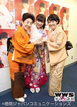 AKB48 岩佐美咲の新曲『ごめんね東京』記念イベントに中村玉緒、田川寿美がサプライズゲストで登場!