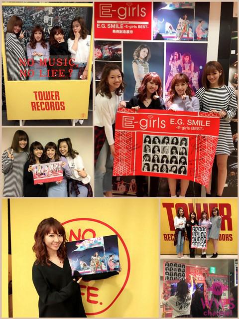 ベストアルバムのリリースを記念しE-girls20名が全国のCDショップをサプライズ訪問!