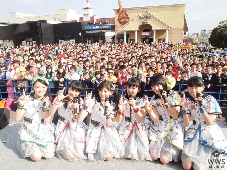 ももクロ・佐々木彩夏が乱入!ばってん少女隊が先輩、ももクロの福岡公演場外ステージで熱すぎるライブを決行!