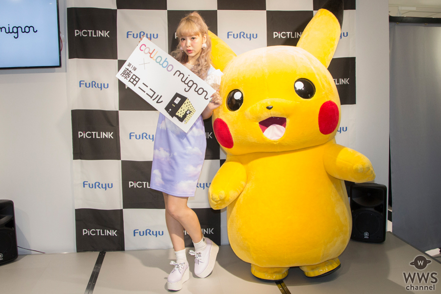 藤田ニコルが渋谷109に登場!コラボフレームで にこるんと一緒に撮影!