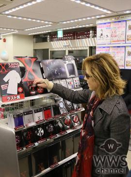 X JAPANのYOSHIKIがローソンに降臨!自ら『X JAPANくじ』に挑戦!