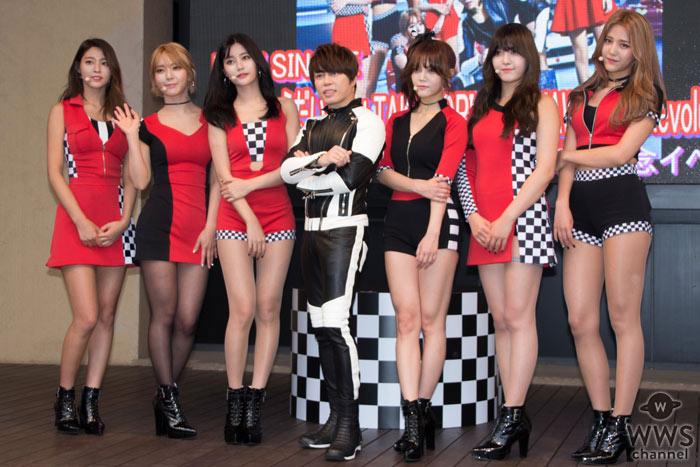 AOAが西川貴教(T.M.Revolution)と共にニューシングル『愛をちょうだい』発売記念イベントに登場!
