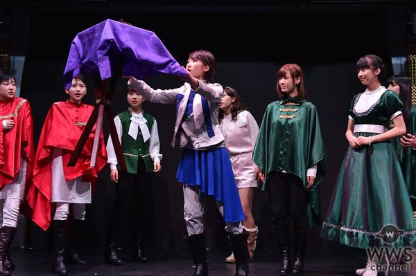 モーニング娘。'16主演・演劇女子部『続・11人いる!東の地平・西の永遠』制作発表にてイリュージョンを披露!