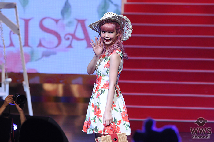 藤田ニコルが花柄ワンピースでLIZLISAステージに登場!咲くLove PopteenヒロインFes2016
