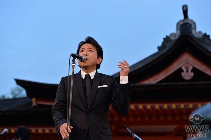 藤井フミヤが世界遺産の厳島神社・高舞台で奉納コンサートを開催!