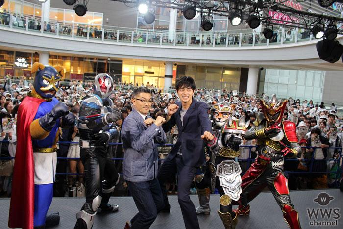 東出昌大、豊島圭介監督が映画『ヒーローマニア-生活-』公開直前トークショーに登場!関西ご当地ヒーロー達も応援に駆けつける!