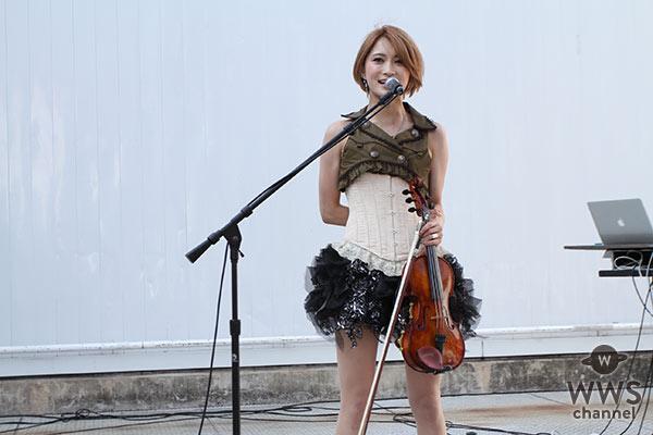 バイオリニスト・Ayasaが「V.V Rocks」野外ステージで圧巻のライブパフォーマンスを披露!