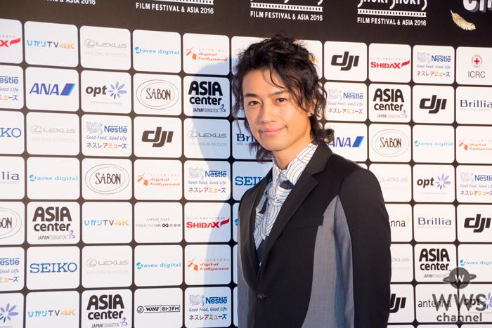 斎藤工が「ショートショート フィルムフェスティバル」レッドカーペットに登場!