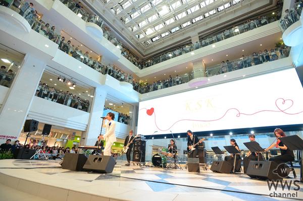 DAIGOが新曲『K S K』のCDリリース記念イベントを開催!池袋サンシャインシティ噴水広場が祝福の泉に!