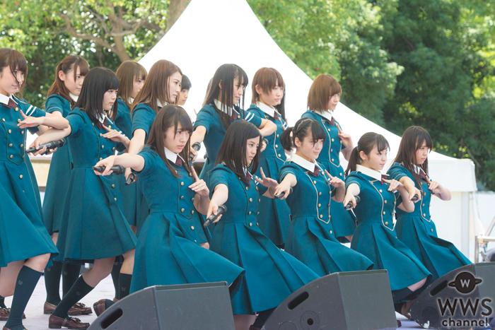 欅坂46が初のTIFで新曲『世界には愛しかない』をフルコーラスで初披露!