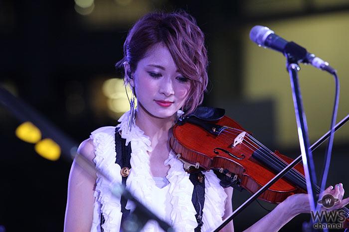 美しすぎるヴァイオリニスト・Ayasaが思い出の新宿の地で圧巻のライブパフォーマンス!「SUMMER TERRACE 2016」を盛り上げる!