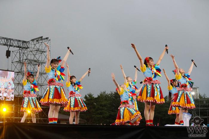 私立恵比寿中学が恒例野外ワンマンで雨をも吹き飛ばす大迫力パフォーマンス!サプライズ発表に歓喜と祝福の嵐!