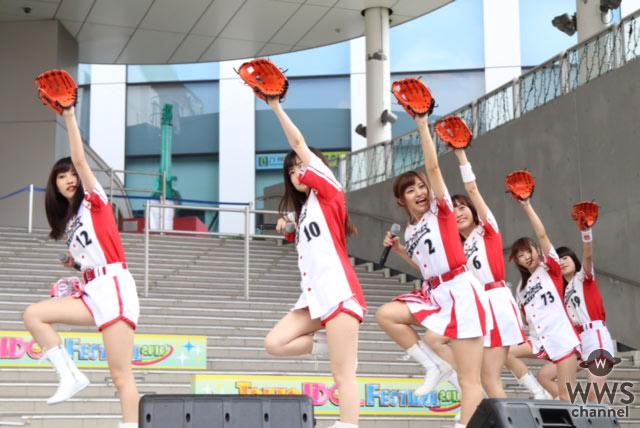 【ライブレポート】絶対直球女子!プレイボールズがTIF2016に登場!『ダイビングキャッチ』など3曲を全力パフォーマンス!