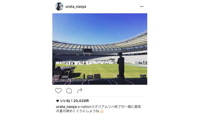 AAAのリーダー・浦田直也がa-nation出演で リハーサルのオフショットを公開!「一緒に最高の夏の締めくくりにしようね」