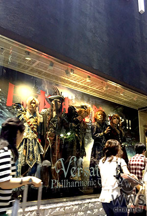 Versailles、9/18 渋谷マルイ屋上にてスペシャルトークイベントを開催!さらにショーウィンドウに入ってパネルと化したVersaillesが渋谷の街をパニックに!