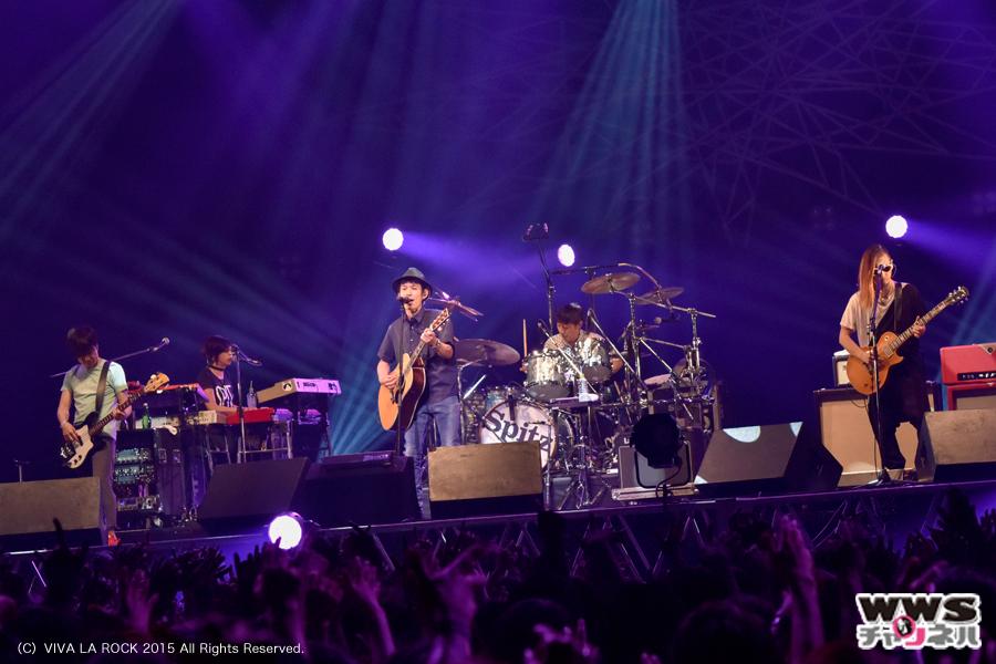 【ライブレポート】スピッツがヒット曲『チェリー』など全10曲を披露!VIVA LA ROCK 2015