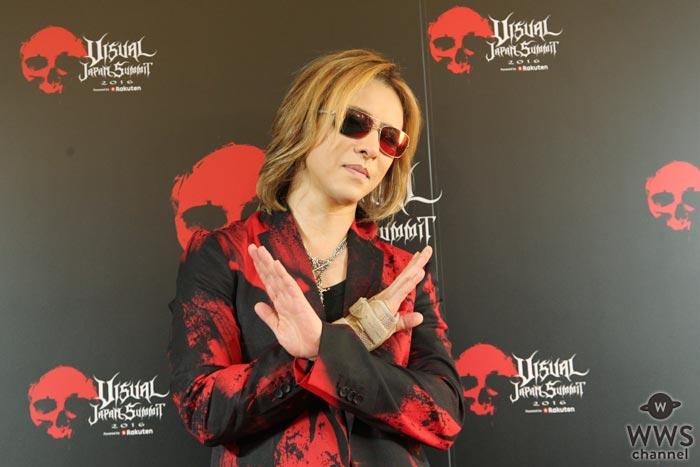 X JAPAN YOSHIKIがVISUAL JAPAN SUMMIT 2016に登場!ビジュアル界を代表してコメント「X JAPANの存在自体がサプライズ」