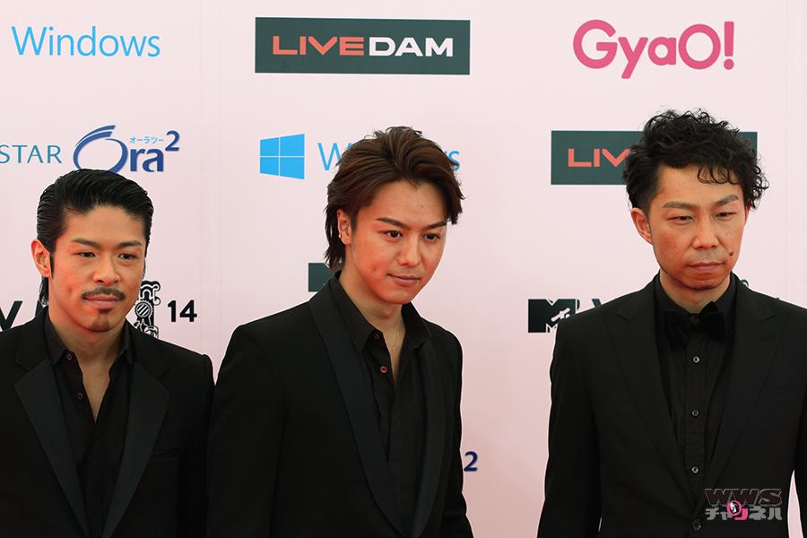 【VMAJ2014】EXILEからMATSU、USA、TAKAHIRO3名がレッドカーペットに登場!