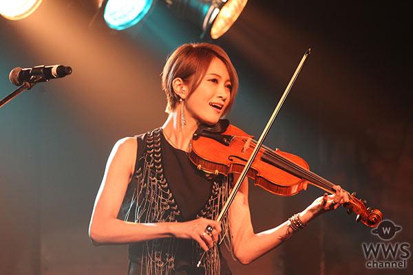 美しすぎるヴァイオリニスト・Ayasaが渋谷のど真ん中で華麗なライブパフォーマンス!3rdアルバムから新曲「東京2020」も披露!