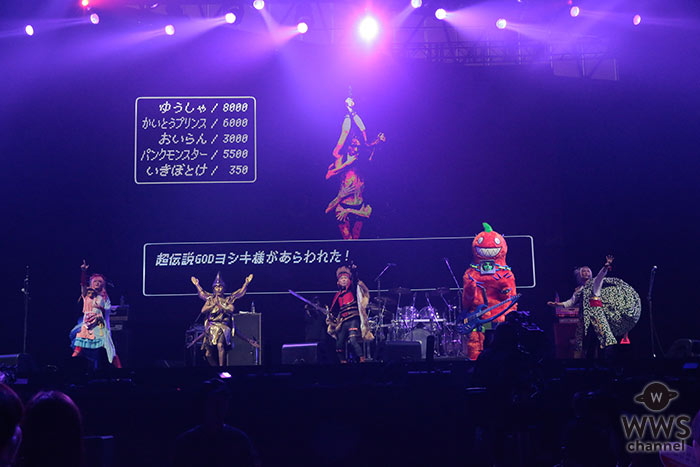 Psycho le cemu(サイコルシェイム )がVISUAL JAPAN SUMMIT 2016初日にコミカルな衣装で登場!敵キャラでYOSHIKIが登場?!