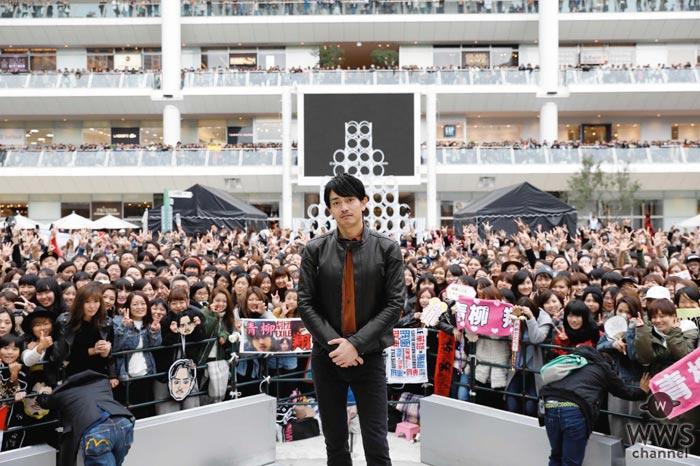 青柳翔が「月刊EXILE」1月号で初の単独表紙が実現!劇団EXILEのメンバーも駆けつけた『泣いたロザリオ』発売記念イベントの模様も大公開!