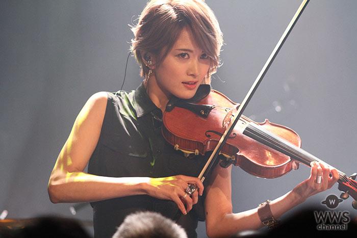 【ライブレポート】美しすぎるヴァイオリニスト・Ayasaが映像を駆使した壮大なワンマンライブ開催!「ヴァイオリンはずっと弾いていきたい」