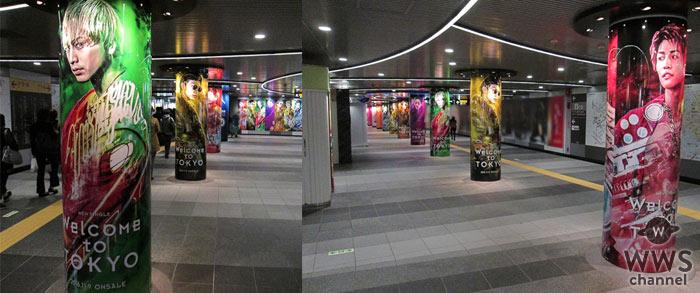 渋谷に三代目 J Soul Brothers新曲「Welcome to TOKYO」のミュージックビデオを表現した「1週間渋谷限定クリエイティヴポスター 」が出現!