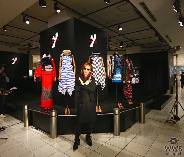X JAPAN YOSHIKIが『YOSHIKIMONO 魅惑のドレスキモノ』を伊勢丹新宿店本館にオープン!