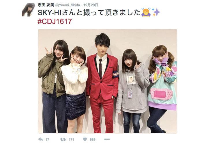 夢みるアドレセンスがカウントダウン・ジャパンの舞台裏でSKY-HI KEYTALKらと2ショット撮影!