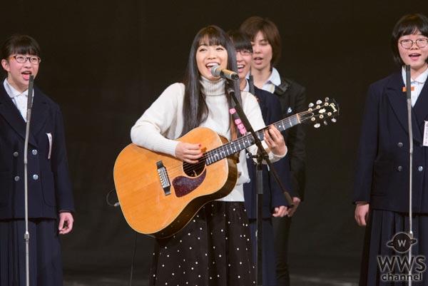 miwaが熊本の中学生合唱団と共にNHK紅白リハーサルに登場!「真っ直ぐでひたむきな姿を全国の人たちに見てもらいたい」