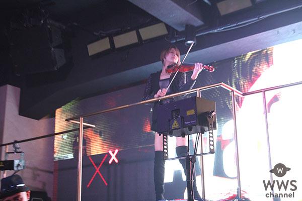 美しきヴィオリニスト・AyasaがELE TOKYOに登場!スピード感溢れるライブパフォーマンスでオーディエンスを魅了!