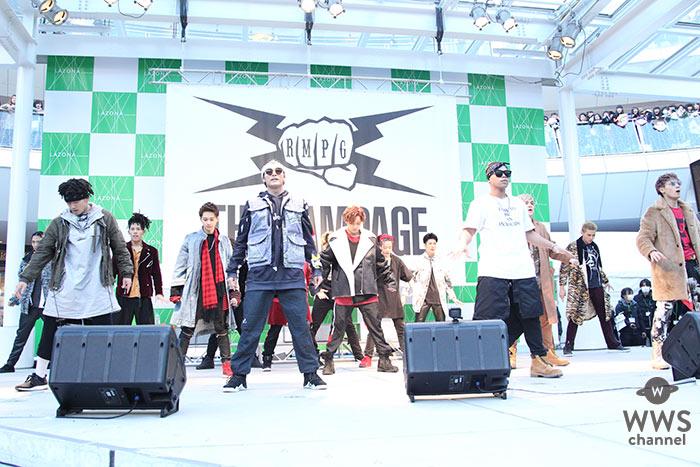 EXILEグループで初となる3人ボーカルTHE RAMPAGEがメジャーデビュー記念イベントをラゾーナ川崎で開催!「日本を代表するアーティストになるために、本気で気合いいれて頑張りたい。」