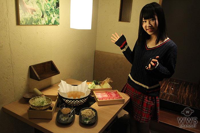 正統派美少女アイドル・桜瀬もえ(さくらシンデレラ)がしゃぶしゃぶ温野菜で牛タン新メニューをレポート!