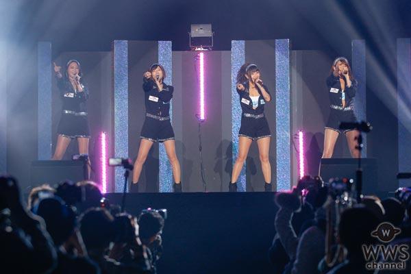 早瀬あや、荒井つかさ、日野礼香、清瀬まちが東京オートサロンのイメージガールズユニット・A-classとしてライブステージに登場!