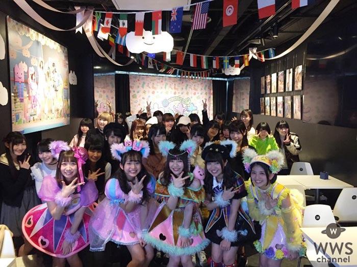 わーすたのコラボカフェ第二弾プレオープンに現役アイドル40人が駆けつける!猫の日に2ndシングル『ゆうめいに、にゃりたい。』をリリース!