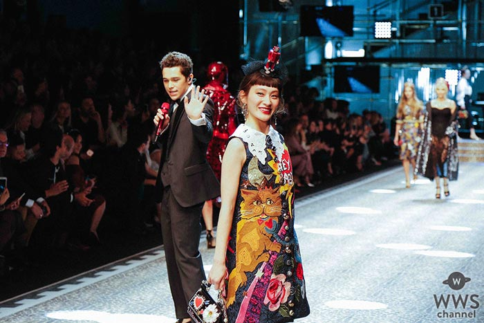 水曜日のカンパネラ・コムアイがドルチェ&ガッバーナのショーに日本人アーティストとして初出演!「難しい部分もありましたが楽しめました」