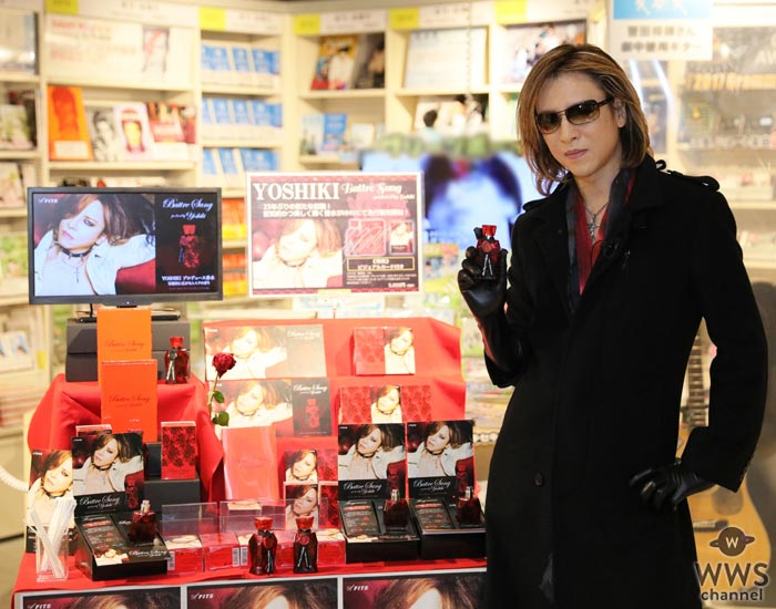 X JAPAN YOSHIKIがHMVに降臨!プロデュースした香水『Battre Sang』を自ら購入し氣志團の綾小路 翔とGRANRODEOへプレゼント!