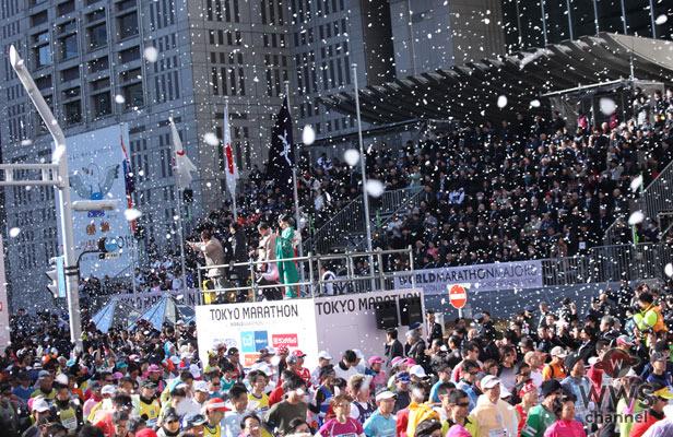 東京マラソン2013 猪瀬 直樹 東京都知事が開会宣言!