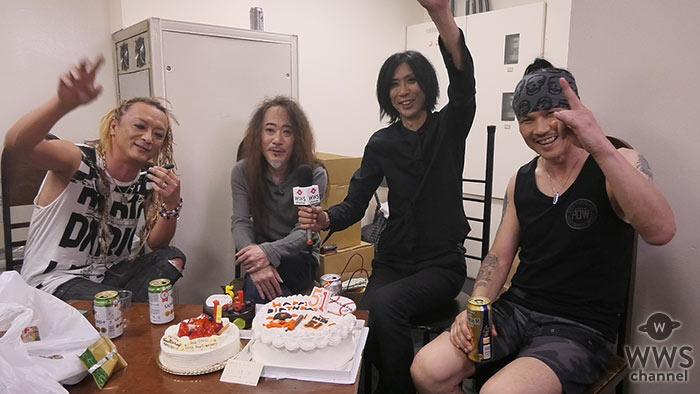 【動画】Ra:INにインタビュー!PATA(X JAPAN)のバースデー祝う!「Ra:INも15周年なのでニューアルバムとガンガン行きたいと思います。」