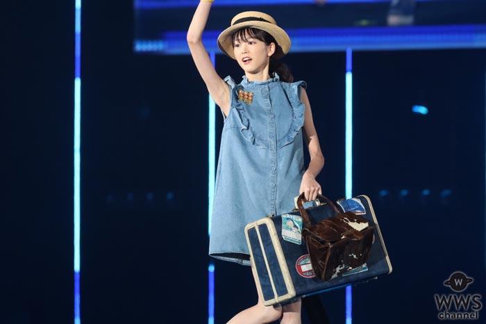 桐谷美玲が夏を感じる爽やかな衣装で東京ガールズコレクション2017 SPRING/SUMMERに登場!