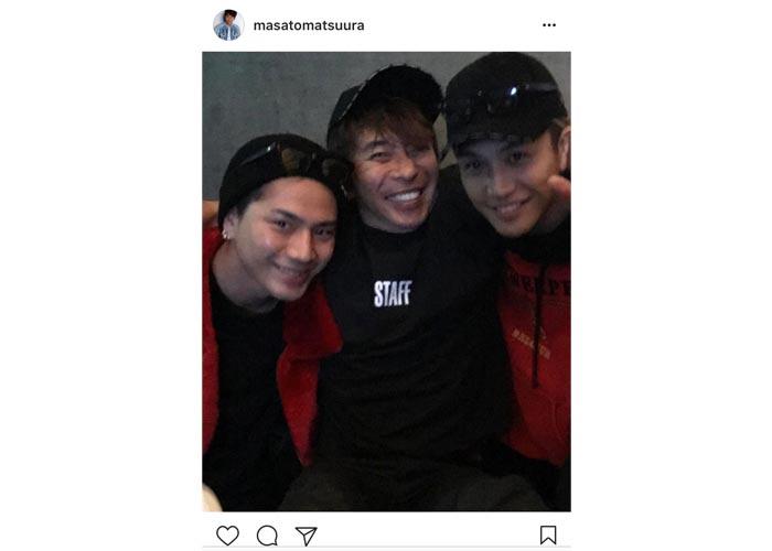 エイベックス松浦社長が笑顔が可愛いすぎる恒例の三代目JSB登坂 岩田との仲良しショットを公開!