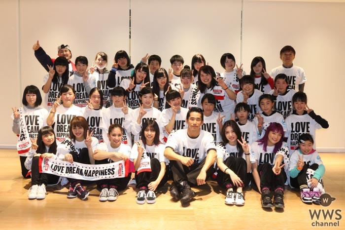 小林直己(EXILE、三代目JSB)、HappinessのSAYAKA、楓、YURINO、須田アンナ、川本璃が仙台で被災地の子供たちにダンス教室を開催!