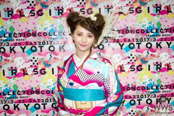 【動画】着物姿が艶やかな香里奈にTGCでインタビュー!「春らしいピンクな所がとても気に入っています。」