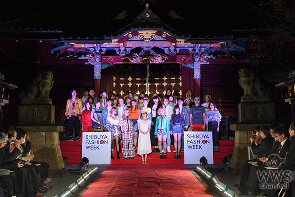 中川翔子が「大人可愛い」をテーマに「SHIBUYA RUNWAY」に白レースのセットアップで登場!