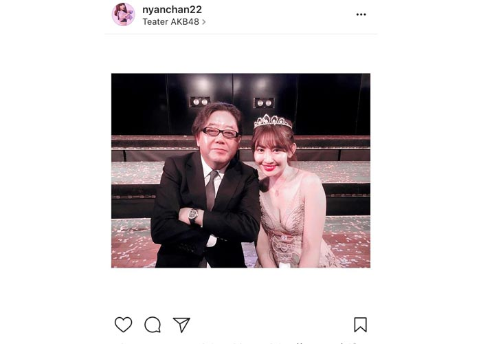 AKB48 小嶋陽菜が卒業でプロデューサー秋元康と可愛いすぎる2ショットを公開