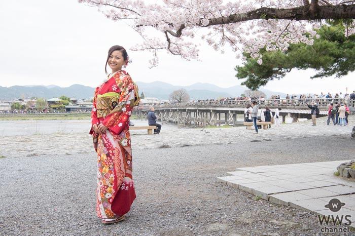 倉木麻衣が美しい着物姿で京都・嵐山一日観光大使に就任!「京都の魅力を再発見しました。」