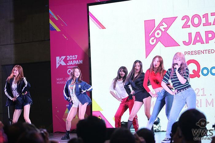 7人組ガールズグループ・CLCがKCON 2017 JAPANで圧巻のライブパフォーマンス!