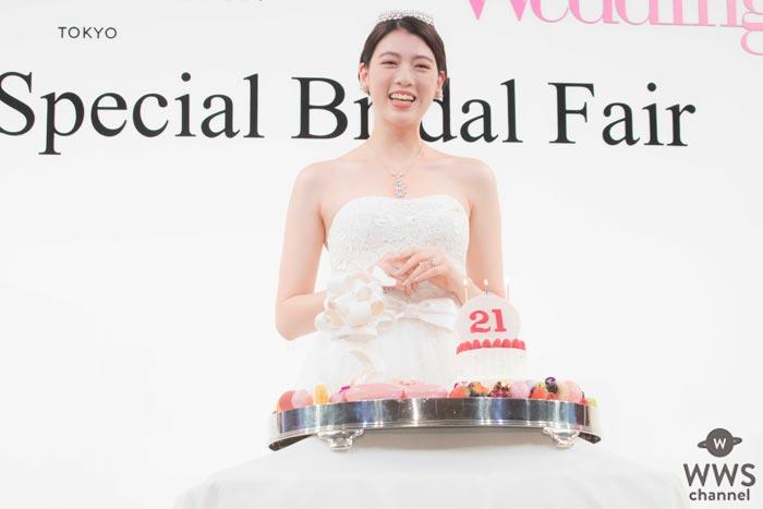 三吉彩花がウエディングドレス姿で涙のサプライズバースデー!「台本になかったので、どうしていいか・・・頭が真っ白です(笑)」
