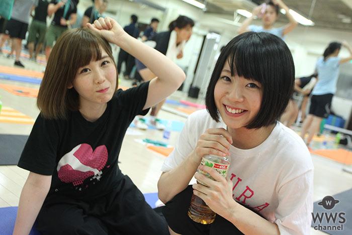 可愛いすぎる美少女2人組・星野雫、渡辺栞(さくらシンデレラ)が肉の日にフィットネスで筋トレ&食べ放題でパワーアップ!?